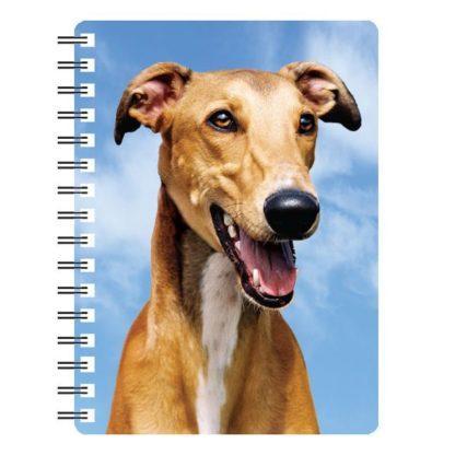 030717115679 3D Notebook Greyhound Red