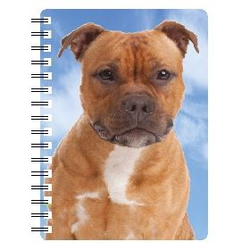 030717118335 3D Notebook Staffordshire Bull Terrier Red