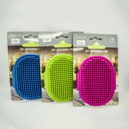 Pet Grooming Pad available in three colours: Blue, Green & Pink.