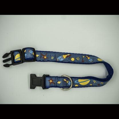Space Theme on Blue Collar