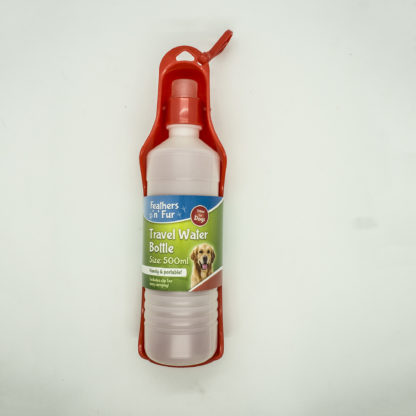 055566926634: Feathers 'n' Fur Travel Water Bottle 500ml