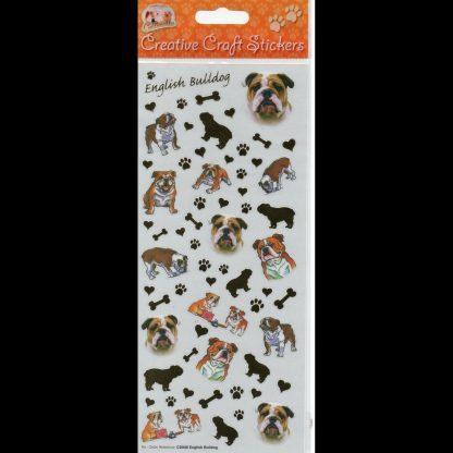 English Bulldog Creative Craft Stickers