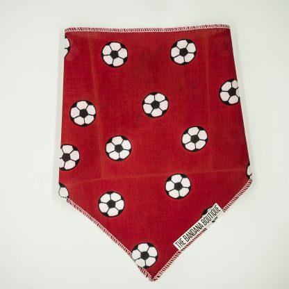 Footballs on Red Small Bandana