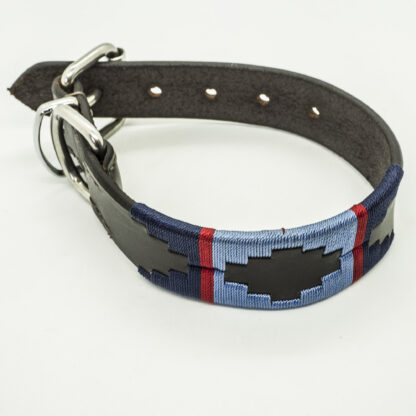 Navy and Sky Polo S Leather Collar