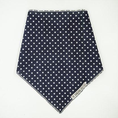 Polka Dots on Navy Blue Medium Bandana