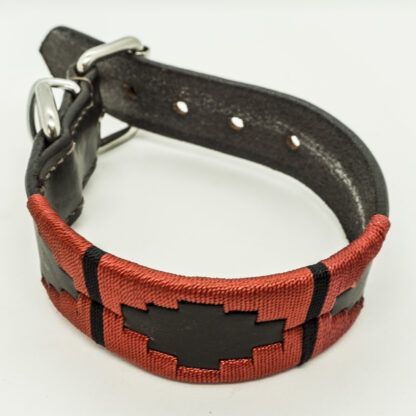 Red Polo S Leather Collar