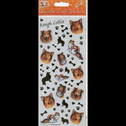 Rough Collie Creative Craft Stickers