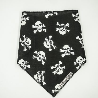 Skull and Crossbones on Black Large Bandana