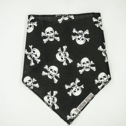 Skull and Crossbones on Black Medium Bandana