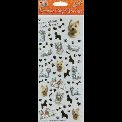 West Highland White Terrier Creative Craft Stickers