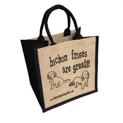 Bichon Frises are Great Jute Bag