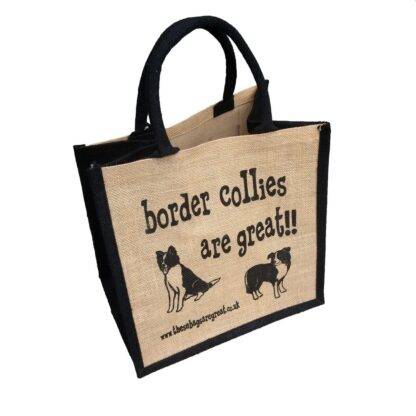 Border Collies are Great Jute Bag
