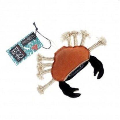 610696121028 Carlos the Crab Eco Dog Toy