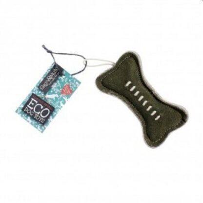 703625145452 Green Bone Eco Dog Toy