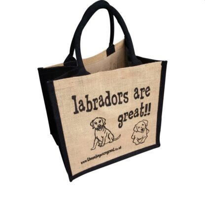 Labradors are Great Jute Bag
