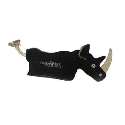 610696120519 Ronnie the Rhino Eco Dog Toy