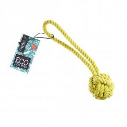 703625145476 Rope Ball Eco Dog Toy
