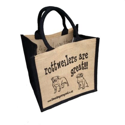 Rottweilers are Great Jute Bag