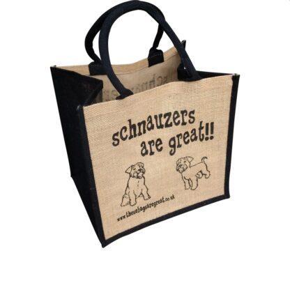 Schnauzers are Great Jute Bag