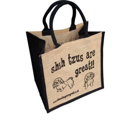 Shih Tzus are Great Jute Bag