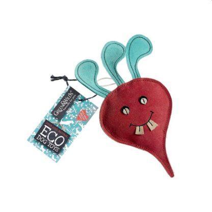 610696121059 Terry the Turnip Eco Dog Toy