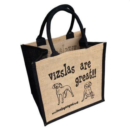 Vizslas are Great Jute Bag