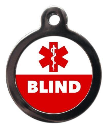 Blind ME58 Medic Alert Dog ID Tag