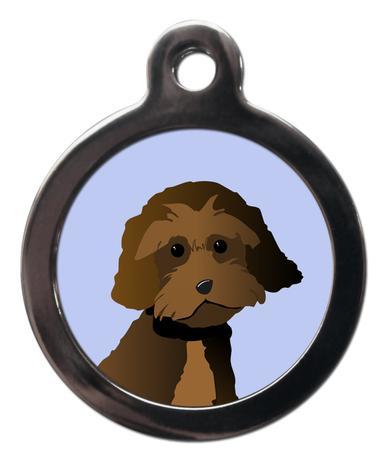 Cockapoo Chocolate BR33 Dog Breed ID Tag