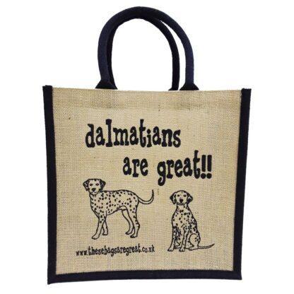 Dalmatians are Great Jute Bag