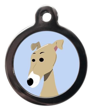 Greyhound BR8 Dog Breed ID Tag