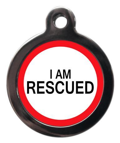 I am Rescued ME48 Medic Alert Dog ID Tag