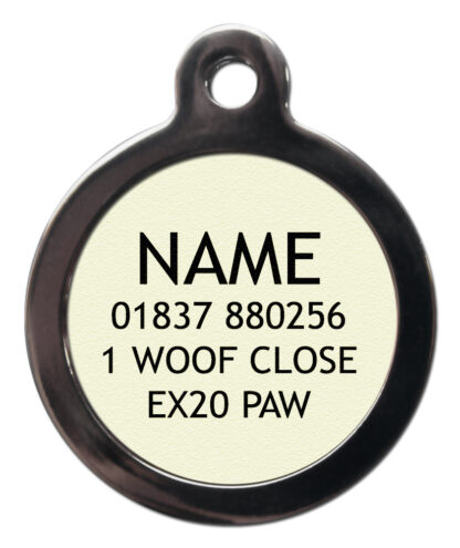 Dog ID Tag Back View