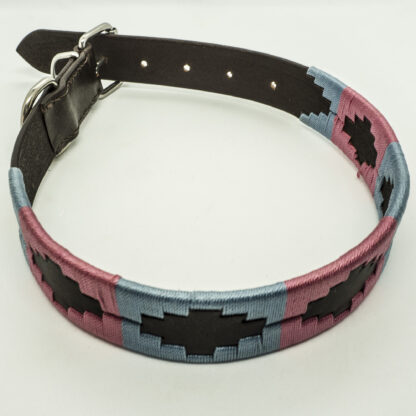 Pink and Sky Polo M Leather Collar