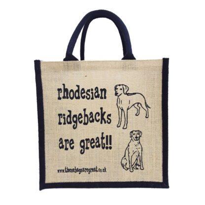 Rhodesian Ridgebacks are Great Jute Bag