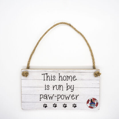 This Home is Run Wall Plaque DBP14