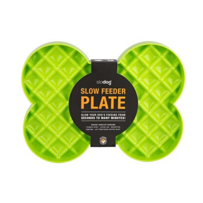 9349785000142 SloDog Slow Feeder Plate Green