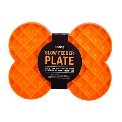 9349785000098 SloDog Slow Feeder Plate Orange