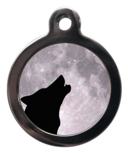 Howling Wolf NA2 Nature Dog ID Tag