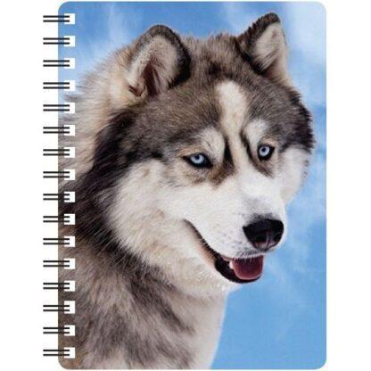 030717116133 3D Notebook Siberian Husky 2