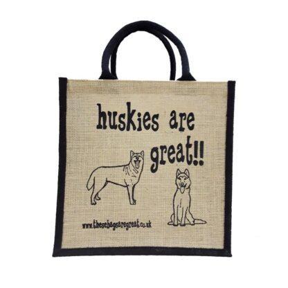 Huskies are Great Jute Bag