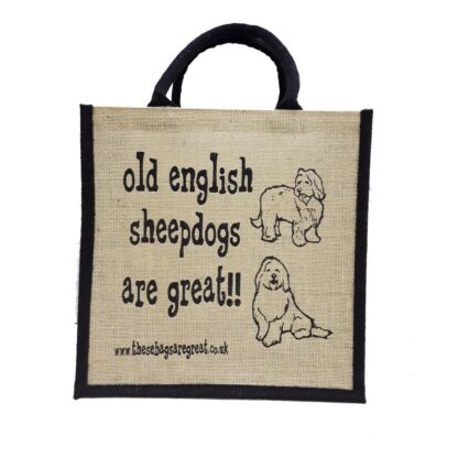 Old English Sheepdogs are Great Jute Bag