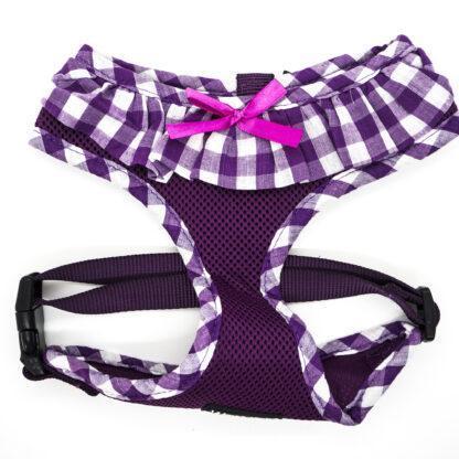 Purple Gingham Harness Large