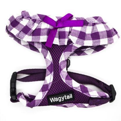 Purple Gingham Harness Small