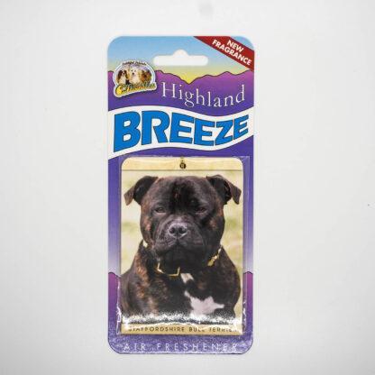 5030717100248 Staffordshire Bull Terrier Brindle Air Freshener