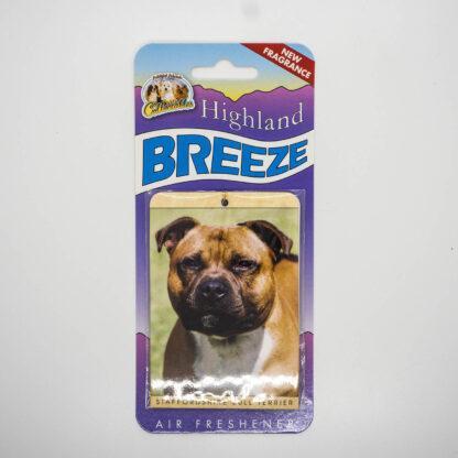 5030717100248 Staffordshire Bull Terrier Red Air Freshener