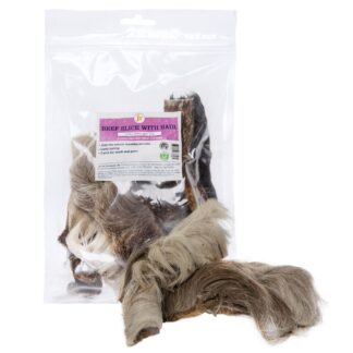 0634158913228 JR Pet Products Beef Slice with Hair 250g